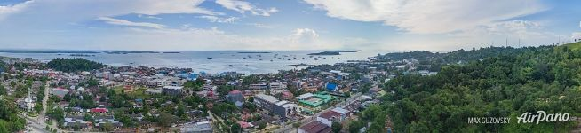 Over the Sorong City, Indonesia