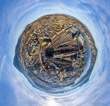 Above the railway station. Planet