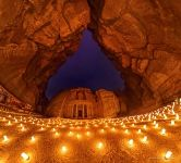 Petra, Jordan. Al Khazneh at night