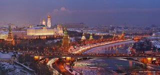 Moscow Kremlin in the winter evening