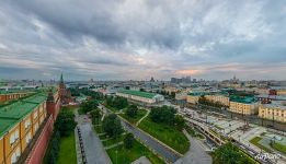 Walls of the Moscow Kremlin and Manege