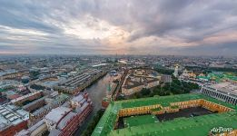 Over the Moscow Kremlin after the rain