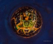 Victory Square and Cathedral of Christ the Saviour at night. Planet