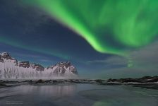 Aurora above the Stokksnes