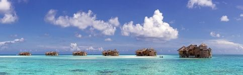 Bungalows in water. Maldives