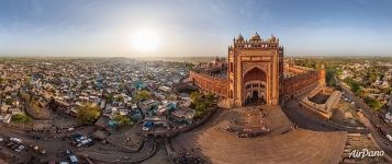 Buland Darwaza (Gate of Magnificence). Panorama