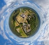 Above the Château de Chambord. Planet