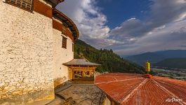 National Museum of Bhutan in the Ta-dzong building
