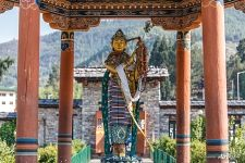 Sculpture neat the Thimphu Chorten