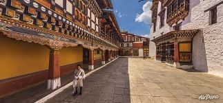 At the territory of the Rinpung Dzong