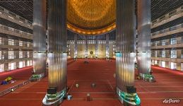 Interior of the Istiqlal Mosque