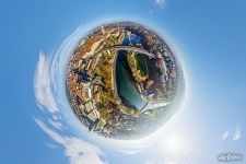 Above the Aare River. Planet