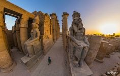 Colossuses of the pharaohs. Luxor Temple