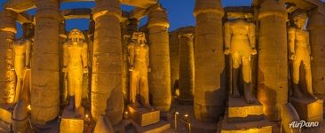 Peristyle. Evening illumination. Luxor Temple