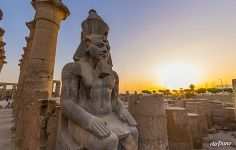 Ramesses II Colossus. Luxor Temple