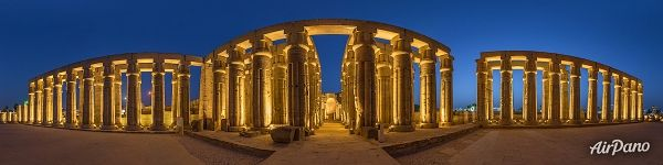 Court of Amenhotpe III. Luxor Temple. Panorama