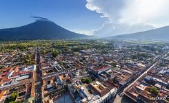 Bird's eye view of Antigua Guatemala