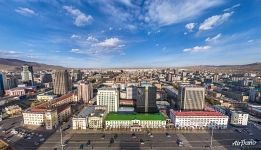 Bird's eye view of Ulaanbaatar