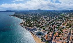 Bird's eye view of  Sainte-Maxime