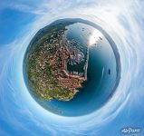 Above the port of Saint-Tropez. Planet