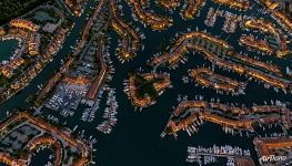 Bird's eye view of Port Grimaud