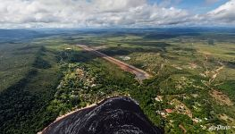 Bird's eye view of Canaima Lagoon