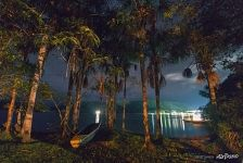 Canaima Lagoon at night