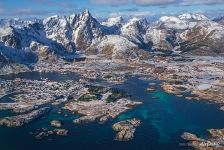 Lofoten archipelago top view
