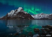 Northern lights above Senja Island