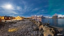 Polar lights in Reine