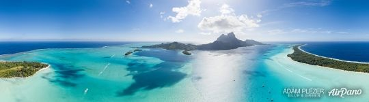 South-East lagoon of Bora Bora