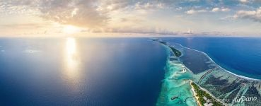 Above the Falhumaafushi Island