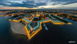 Peter and Paul fortress at night, St. Petersburg