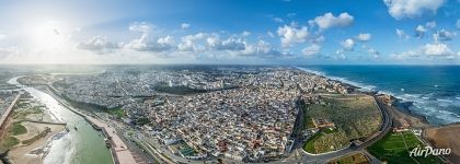 Panorama of Rabat from above