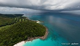 Lovely Anse Georgette and the Lemuria Resort and Golf Club in Praslin