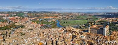 Alcázar of Toledo and Tagus River