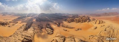 Martian landscapes of Wadi Rum