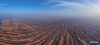 Aerial view on Yardang Geopark