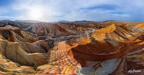 Danxia Colorful Mountains, China