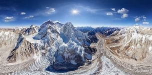 Above the Khumbu Valley, Everest