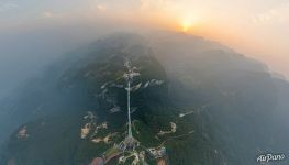 Zhangjiajie Glass Bridge from above