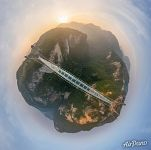 Zhangjiajie Glass Bridge. Planet