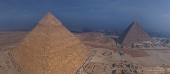 Pyramid of Khafre and Pyramid of Cheops. Panorama