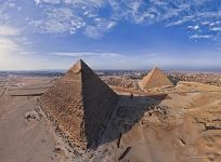 Great Pyramids of Giza. Pyramid of Khafre and Pyramid of Cheops