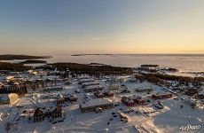 Solovetsky Islands in winter