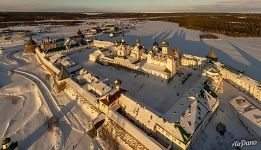 Solovetsky Monastery in winter