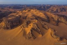 Sahara Desert from above