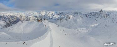 Ski trails of Courchevel