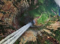 Eagle's Eye View of the Dragon Falls, Venezuela
