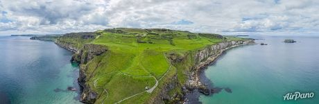 Above the Carrick-a-Rede Rope Bridge